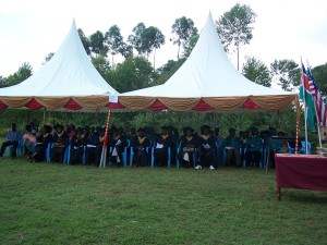 Graduating Class under the big tent