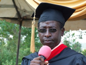 Rev. Wycliffe Adagala, Director of WWTC-Kenya addresses the graduates.