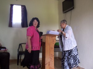 Sister Leta McDowell and Pastor Eloice Gray During the Seminar on Early Childhood Development