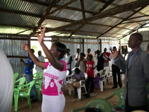 Conference attendees during praise and worship.